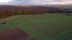 German landsacpe aerial shot Stock Footage