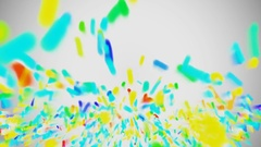 Departures from the bottom of colorful particles Stock Footage