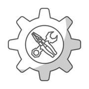 Repairs tools design Stock Illustration