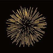 Firework gold isolated Piirros