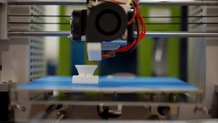 Mechanism of 3D printer, print jets creating an object, affordable manufacturing Stock Footage