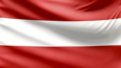 Realistic beautiful Austria flag looping Slow 4k resolution Stock Footage