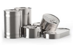 Metal tin cans Stock Illustration
