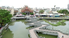 Dragon and Tiger pagodas, view from pagodas, time lapse Stock Footage
