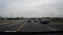 Driving on major highway on Sunday afternoon. Stock Footage