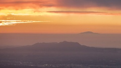 Los Angeles Dawn Clouds Time Lapse San Fernando Valley Stock Footage