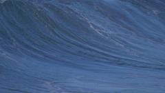 Waves break in surf line, slow motion. Stock Footage