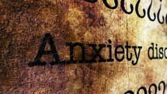 Anxiety disorder grunge concept Stock Footage