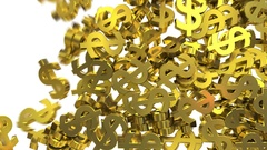 Dollar signs symbols fill screen transition money bank business finance tax 4k Stock Footage