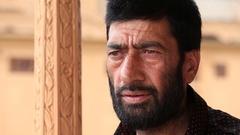 Portrait muslim man in Srinagar, Kashmir, India Stock Footage