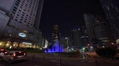 Kuala Lumpur city center at night Stock Footage