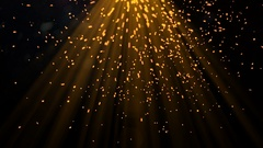 Molten particles flying from the top with a glow Stock Footage