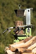 Log splitter Stock Photos