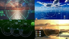 Drones and Jets Heads Up Display Stock Footage