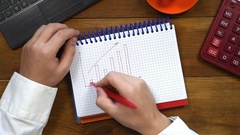 Accountant drawing graph Stock Footage