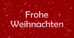 """Merry Christmas text in German """"Frohe Weihnachten"""" turns to dust from bottom on Stock Footage"""