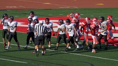 A referee at an American football game. Stock Footage