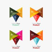 Set of triangle option infographic layouts Stock Illustration