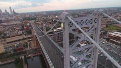 Philadelphia Benjamin Franklin Bridge Stock Footage