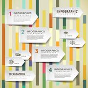 Vector paper arrow tab infographic elements Stock Illustration