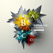 Crystal infographic elements Stock Illustration