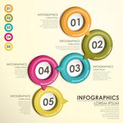 Circle label  flow chart infographics Stock Illustration