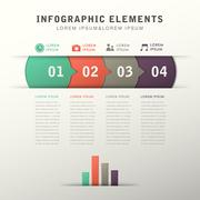 Abstract flow chart infographics Stock Illustration
