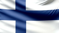 Realistic beautiful Finland flag looping Slow 4k resolution Stock Footage
