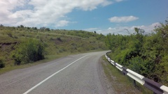 Autotravel Summer south of Crimea. Beautiful serpentine mountain roads Stock Footage