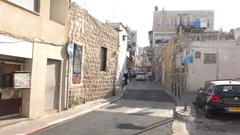 Wadi Nisnas is where Jews, Muslims and Christians live together Stock Footage