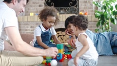 Toy Blocks Game for Parents and Kids Stock Footage
