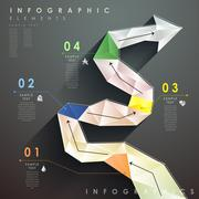 Flat style abstract flow chart infographics Stock Illustration