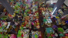 Unidentified people shopping at the Central City Market - Cho Dalat Stock Footage