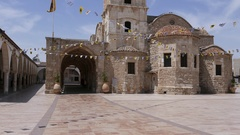 Church in Larnaca. Cyprus Stock Footage