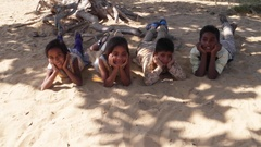 Indian children portrait happy and excited, playing and making merry Stock Footage