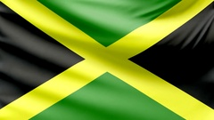 Realistic beautiful Jamaica flag looping Slow 4k resolution Stock Footage