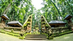 Bali Temple Indonesia Culture Monkey Forrest Timelapse 4k Stock Footage