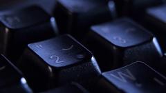 Number 2 key on keyboard. Stock Footage