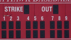 The scoreboard at a baseball game. Stock Footage