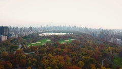 Central Park aerial footage - fall - 2016 - 4k Stock Footage