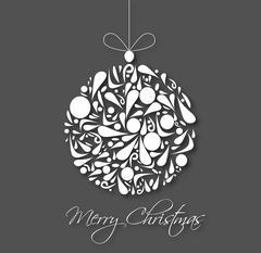 Merry Christmas wish card Stock Illustration