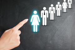 Hiring a new employee or recruitment process Stock Photos