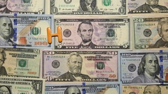 Words On Money. Hand Made Happy Kids. Dollars Banknotes. Stock Footage