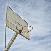 Basketball hoop detail Stock Photos