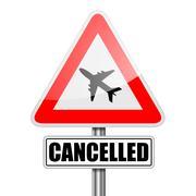 RoadSign Flight Cancelled Stock Illustration