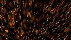 Golden Sparks and Glitter Flying Up in Alpha Channel Stock Footage