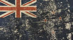 Old grunge vintage faded flag of New Zealand Stock Illustration