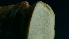 Loaf of fresh white bread Stock Footage