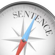 Compass concept Sentence Stock Illustration