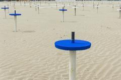 Beach umbrella sand anchor Stock Photos